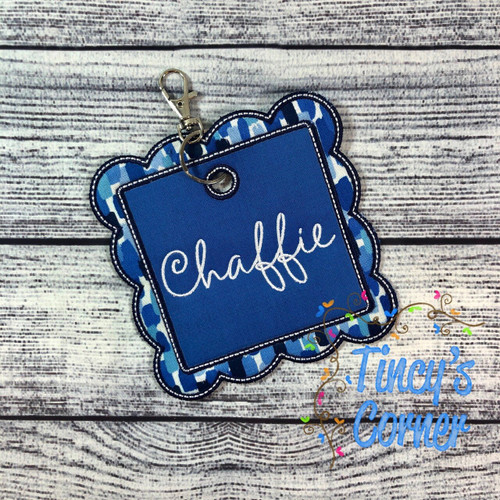 Square Scallop Bag Tag