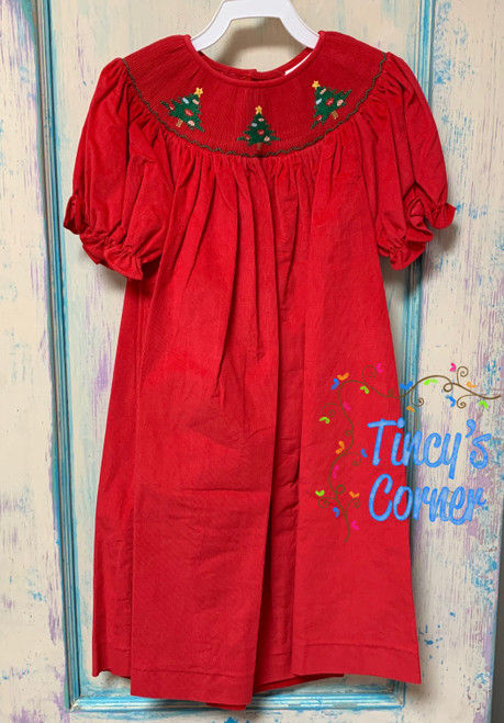 Christmas Tree Corduroy Dress