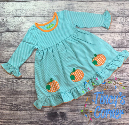 LS Pumpkin Girl's Dress