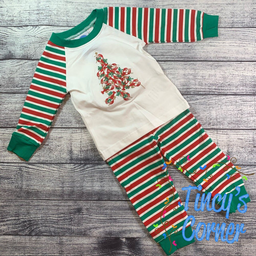 Crawfish Boy's Christmas PJ Set