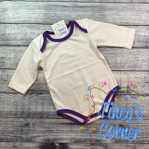 Infant Yellow Dots w/Purple Bodysuit