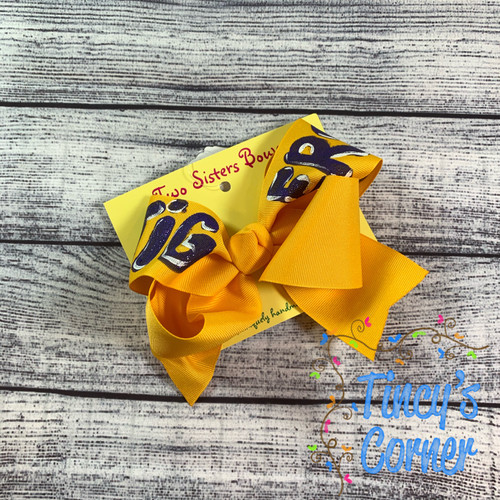 Big Tiger Gold Boutique Hair Bow