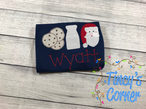 Santa's Cookies and Milk T-Shirt