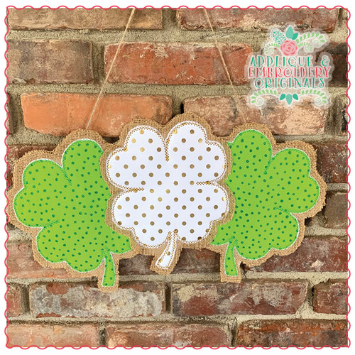 Triple Shamrock Door Hanger X-Large