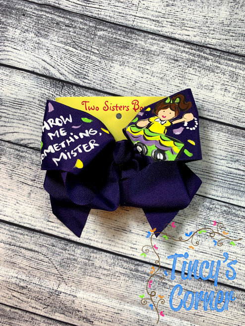Throw Me Something Mister Boutique Hair Bow
