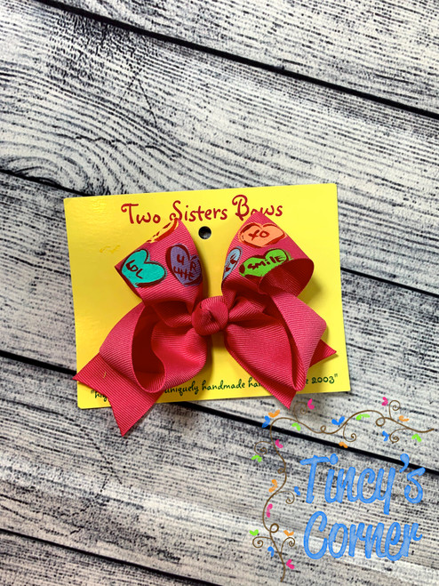 Candy Hearts Boutique Hair Bow