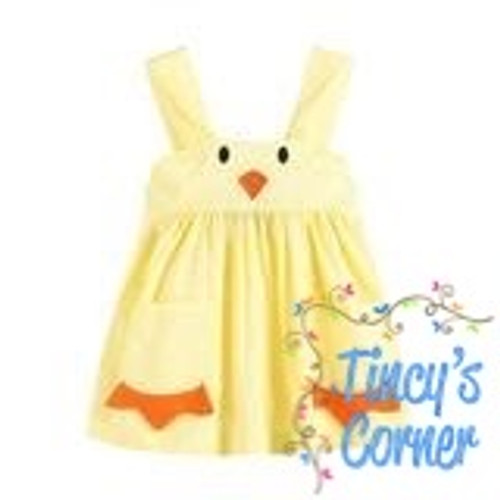 Yellow Baby Chick A-Line Infant Dress
