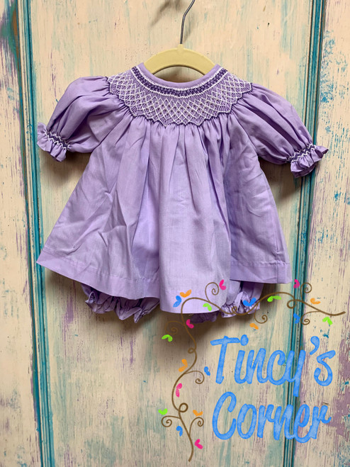 Smocked Lavender Top w/Bloomers