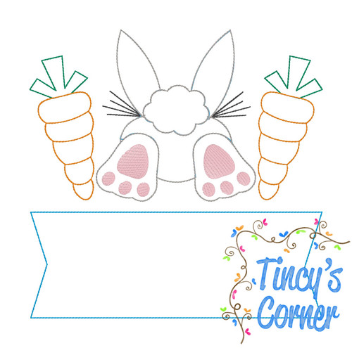 Vintage Bunny Tail Carrot Banner