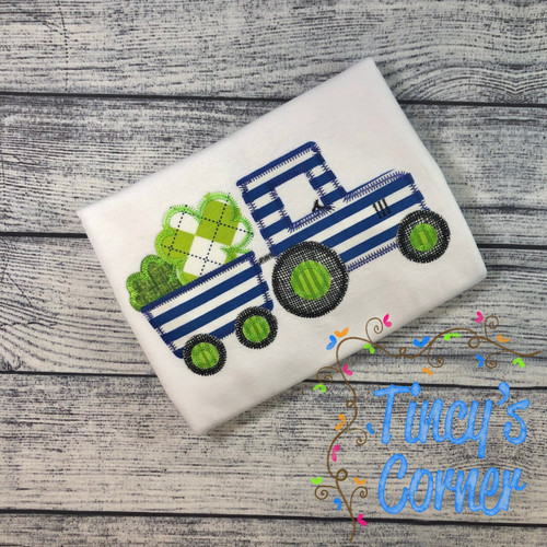 St. Patrick's Day Tractor Applique