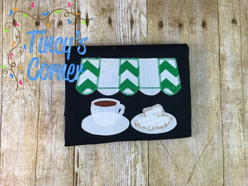 Beignets and Coffee Applique