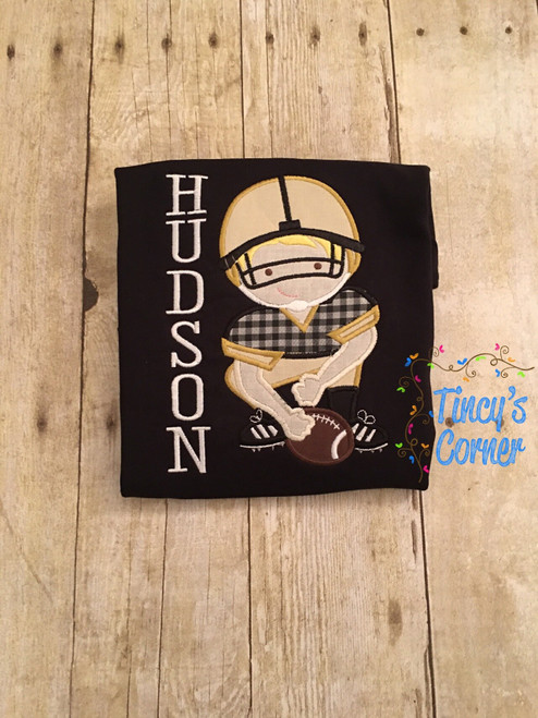 Football Player Applique