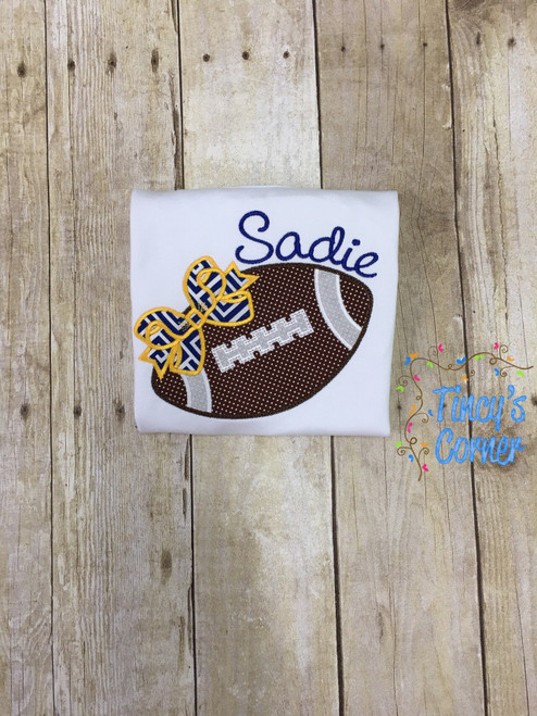 Football Hairbow Applique