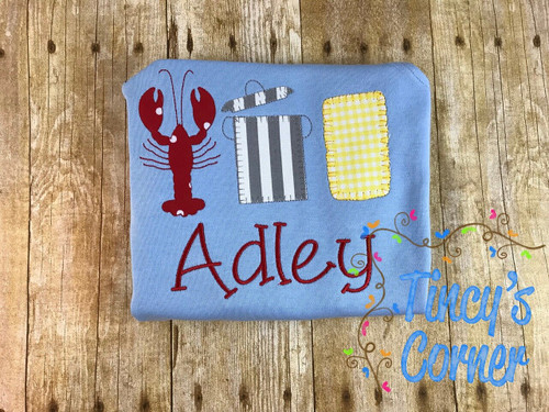 Crawfish Boil Trio Applique