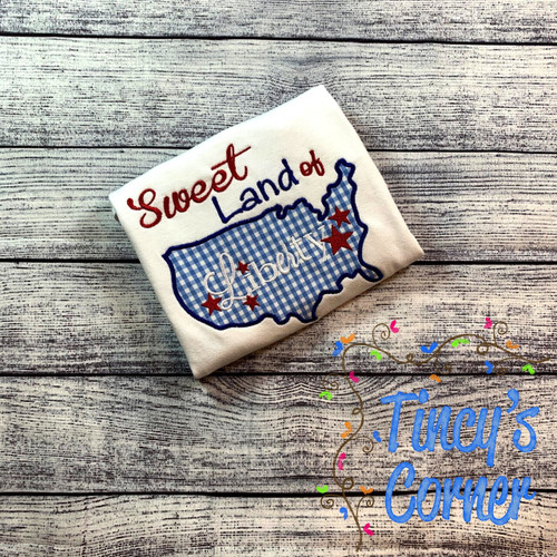 Sweet Land of Liberty Applique