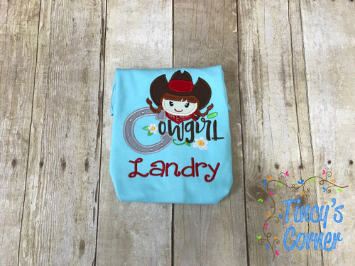 Cowgirl Applique
