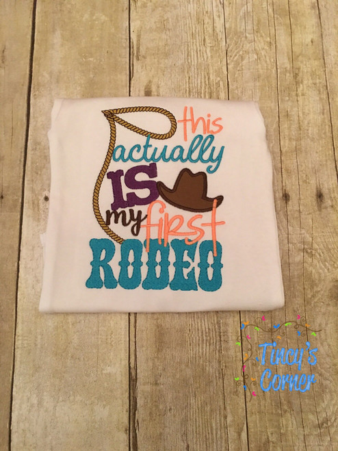 First Rodeo Girl Applique