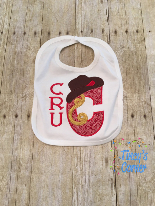 Cowboy Letter Applique