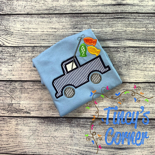 Fishing Truck Applique