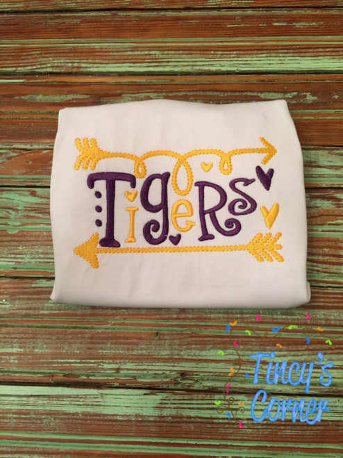Tigers Arrow Embroidery