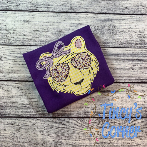 Tiger Girl with Sunglasses Applique