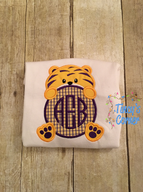 Tiger Peek-A-Boo Applique