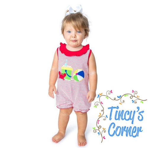 Beach Ball Applique Infant Girl's Romper
