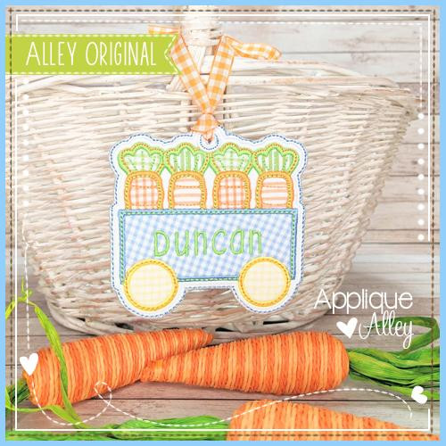 Carrot Wagon Bag Tag