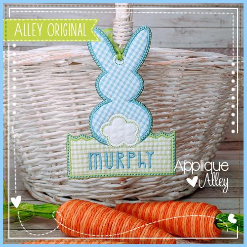 Bunny in Grass Bag Tag