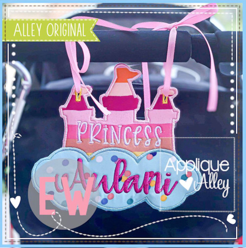 Castle in Clouds Stroller Tag