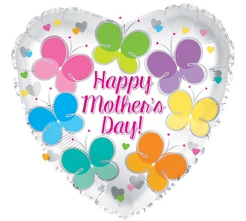 Happy Mother's Day Butterfly Foil Balloon