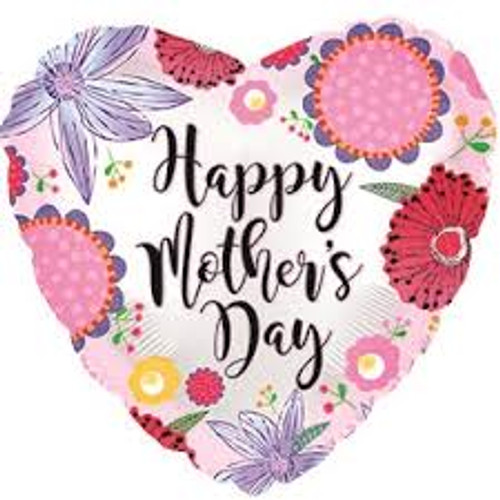 Happy Mother's Day Crazy Flowers Foil Balloon