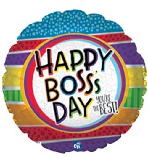Boss' Day You're the Best Foil Balloon
