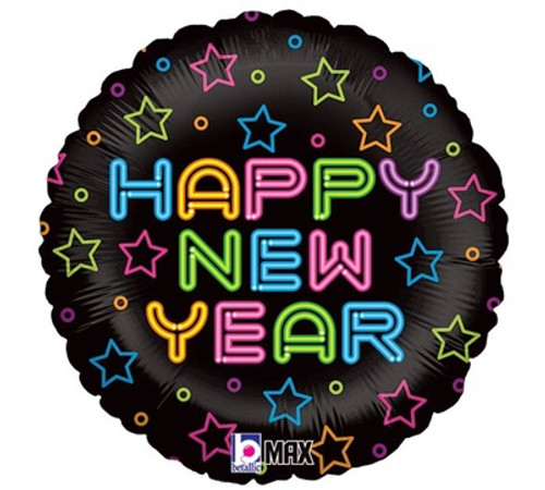 Happy New Year Multi-Color Foil Balloon