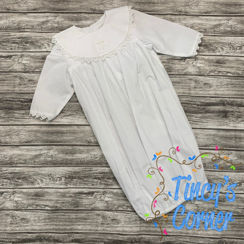 Cross Infant White Gown