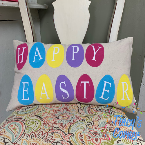 Happy Easter Eggs Pillow