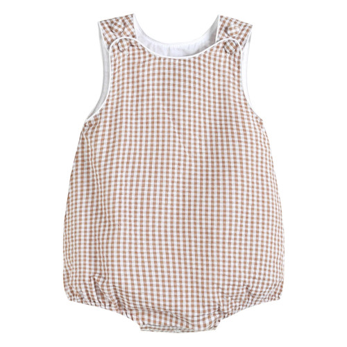 Brown Gingham Basic Bubble
