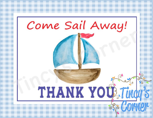Come Sail Away Thank You Notecards