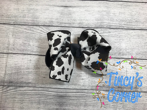 Cow Print Boutique Hair Bow