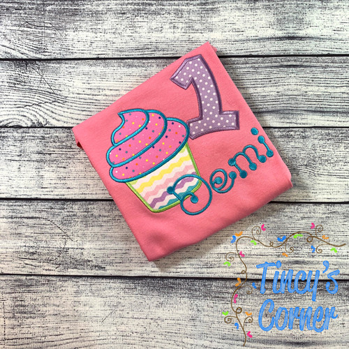 Cupcake Birthday T-Shirt