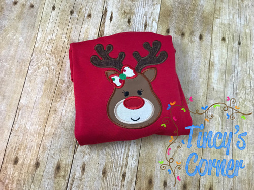 Rudolph Red Nosed Reindeer Girl T-Shirt