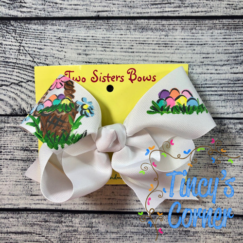 Easter Basket Boutique Hair Bow