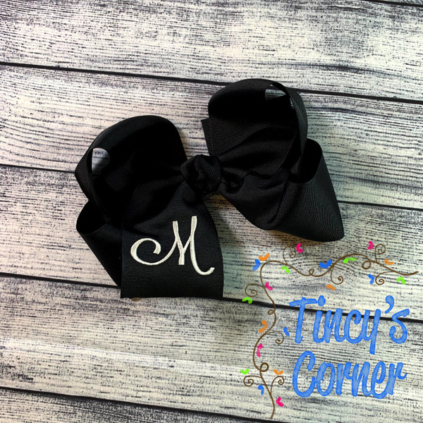 Solid Two Layer Boutique Hair Bow