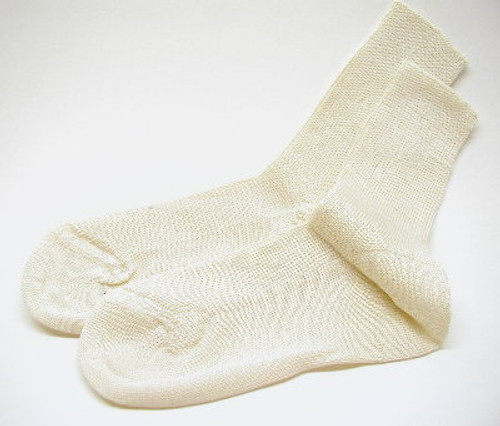 Children's Ivory Cotton Socks Banded Top Size  4 - 5.5