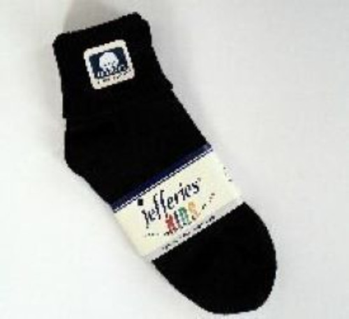 Children's socks black cuffed