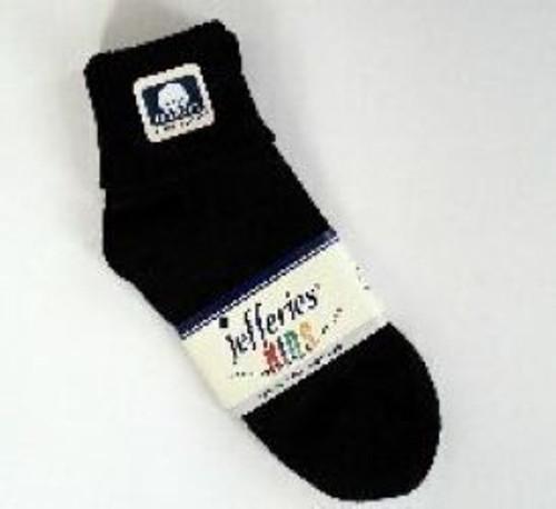 Kids socks black cuffed