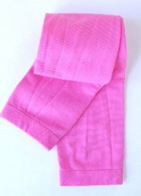 Girls footless tights in hot pink