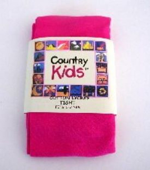 Tights for girls hot pink cotton