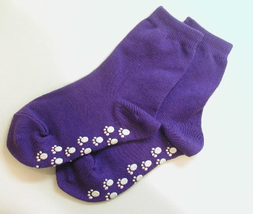 Purple Straight Banded Girls Socks Size 5 - 6.5