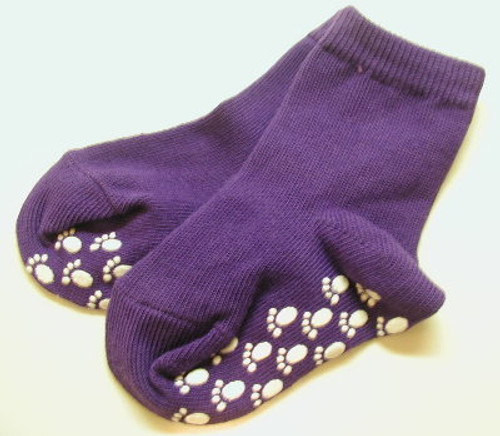 Purple Straight Banded Girls Socks Size 4 - 5.5